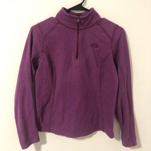 North Face  Purple fleece 3/4 zip pull-over jacket
